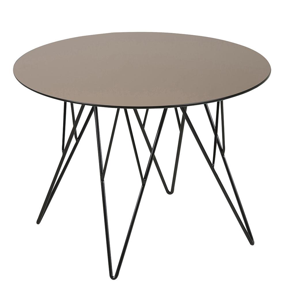 Konferenčný stolík Stark, 55 cm, sklo bronz, bronzová / čierna