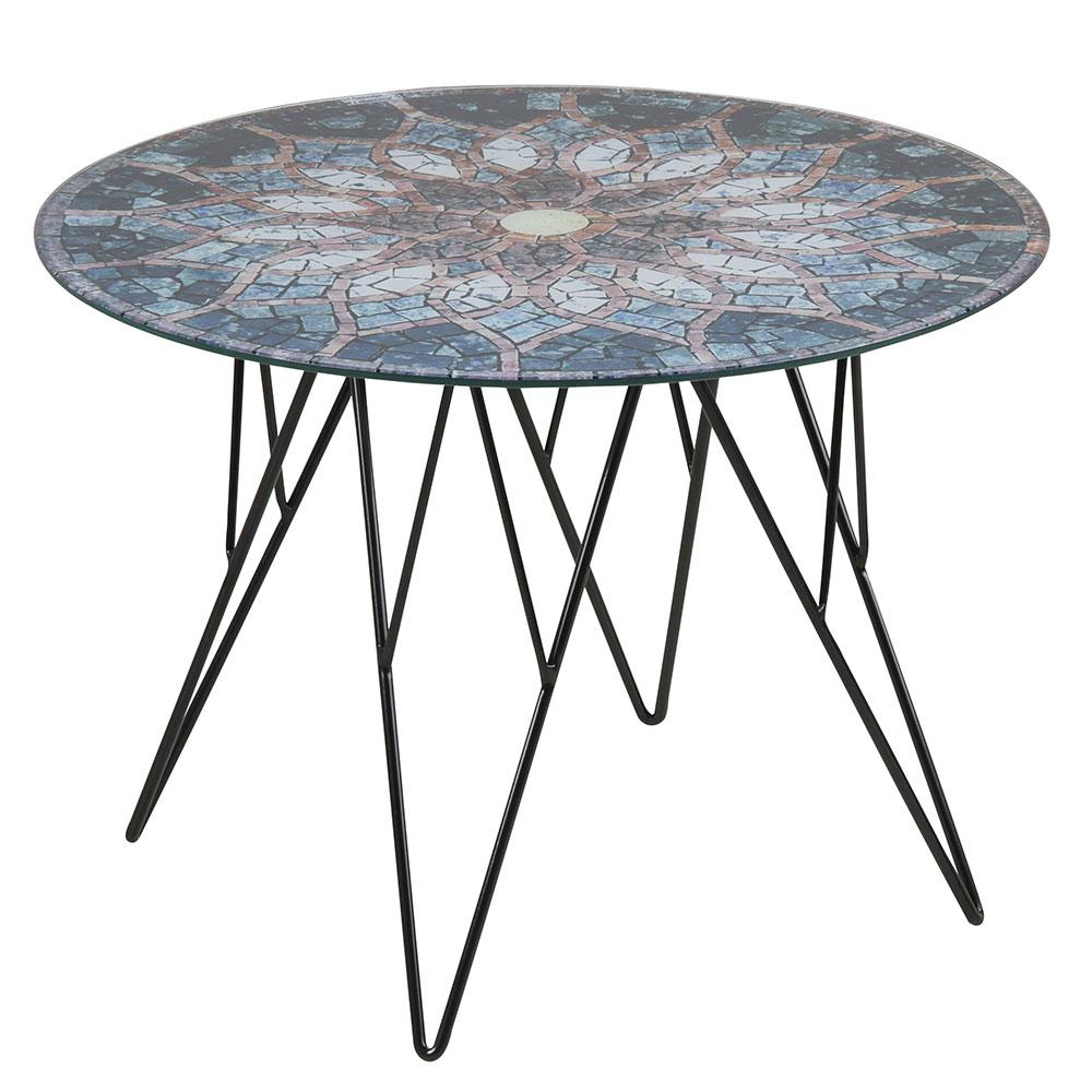 Konferenčný stolík Stark, 55 cm, sklo s potlačou, viac farieb