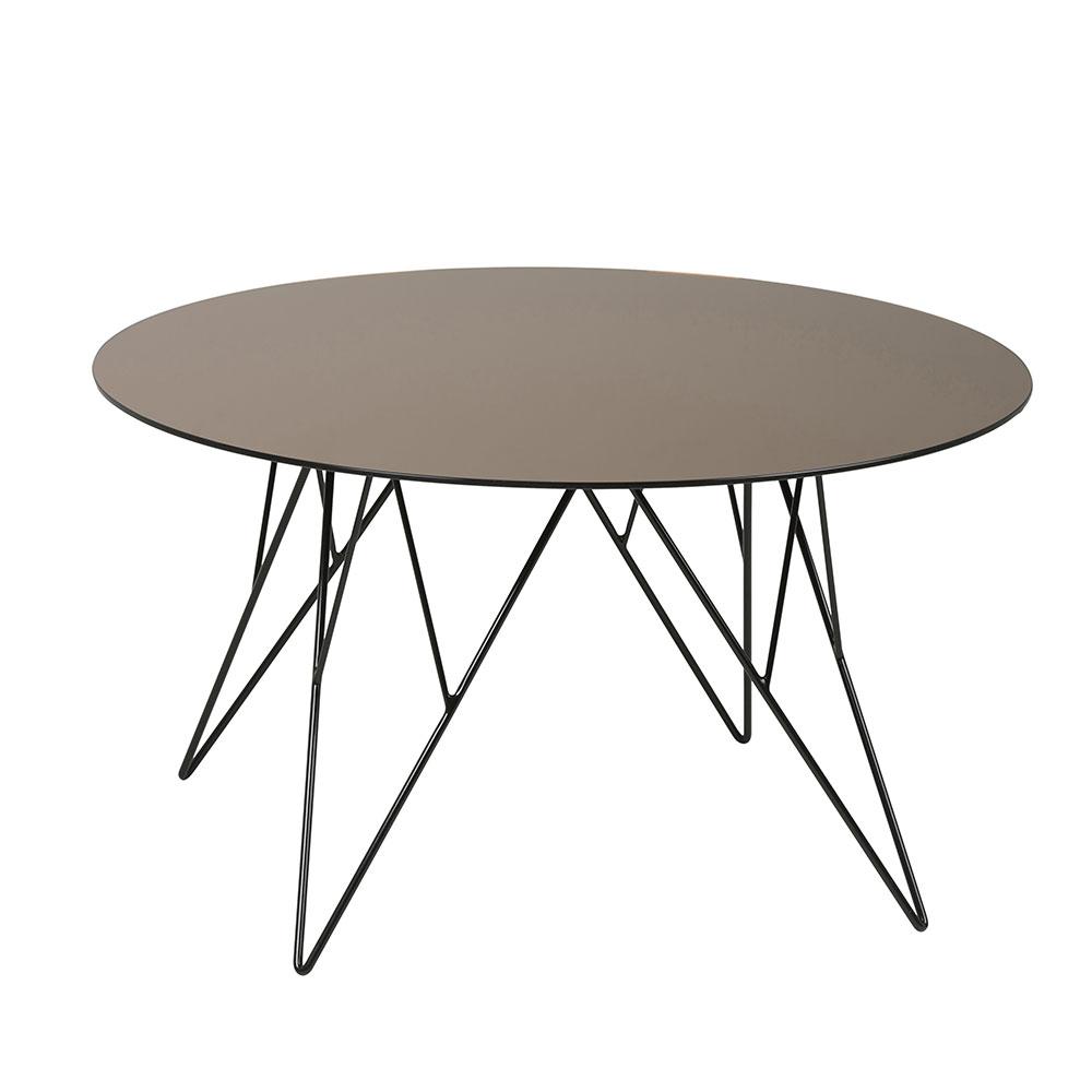 Konferenčný stolík Stark, 80 cm, sklo bronz, bronzová / čierna