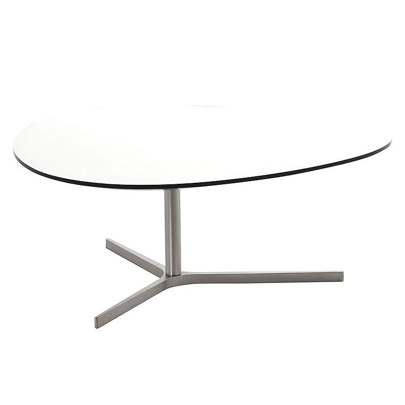 Konferenčný stolík Torry, 103 cm, biela, biela / čierna