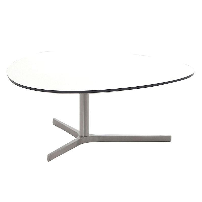 Konferenčný stolík Torry, 84 cm, biela, biela / čierna