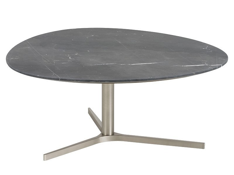 Konferenčný stolík Torry, 84 cm, mramor, čierna