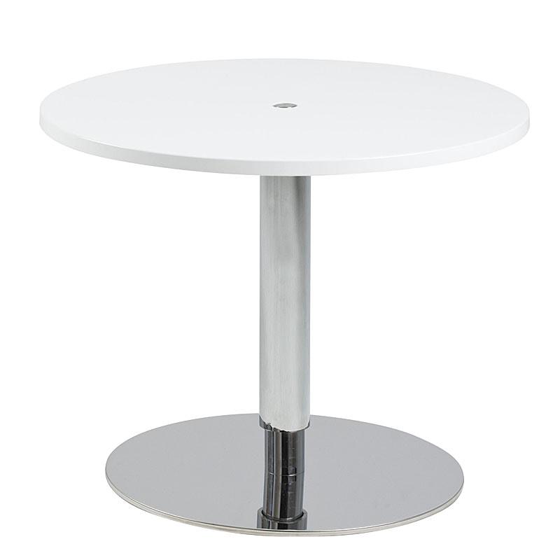 Konferenčný stolík výškovo nastaviteľný Sorty, 60 cm, biela