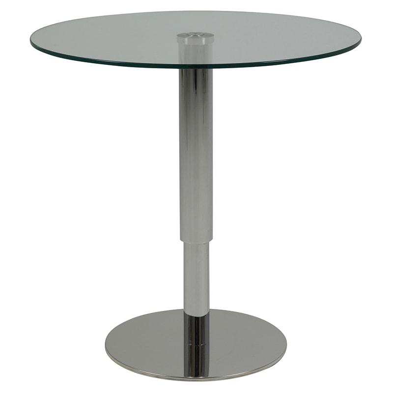 Konferenčný stolík výškovo nastaviteľný Sorty, 60 cm, číra / nerez