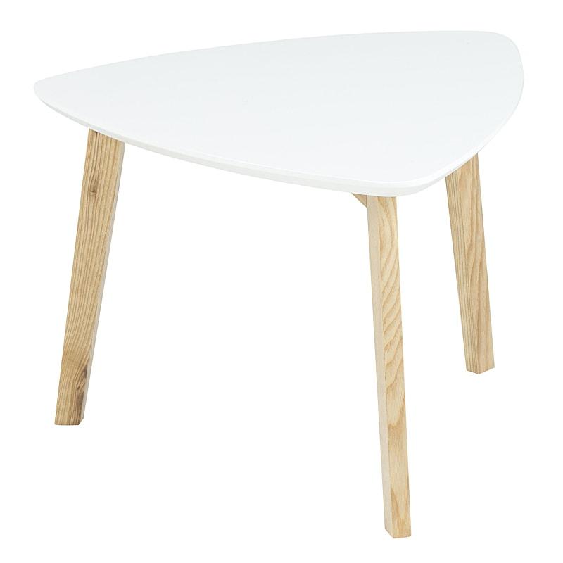 Konferenčný stolík Wingle, 50 cm, biela