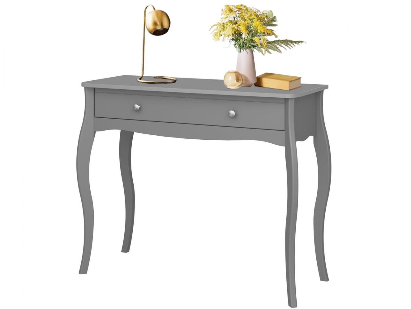 Konzolový stolek Baroq, 100 cm, šedá