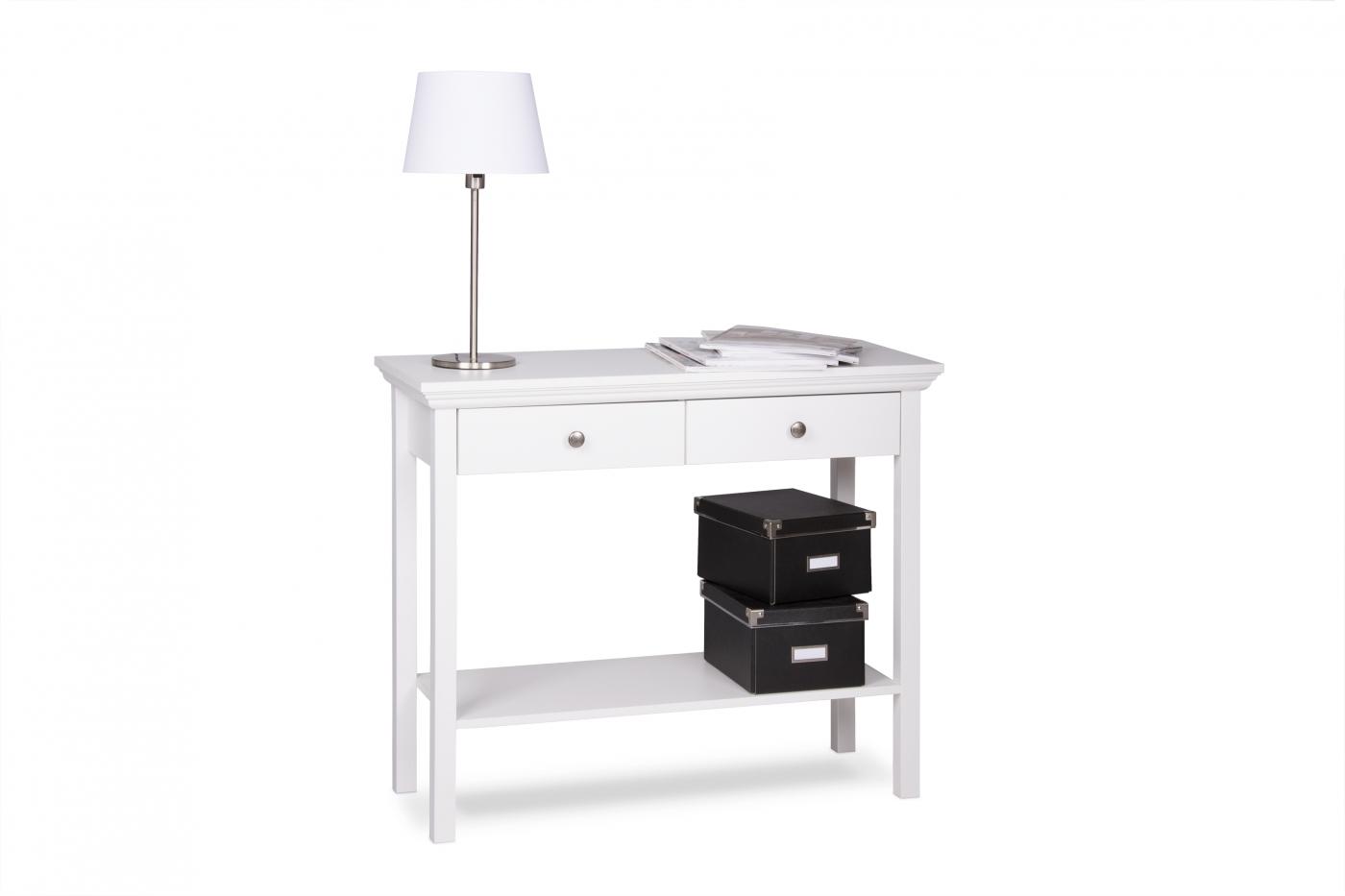 Konzolový stolek Fido, 90 cm, bílá