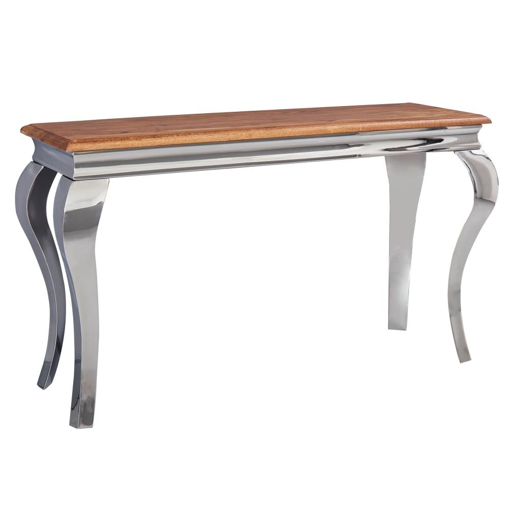 Konzolový stůl Ace, 130 cm, Sheesham / nerez