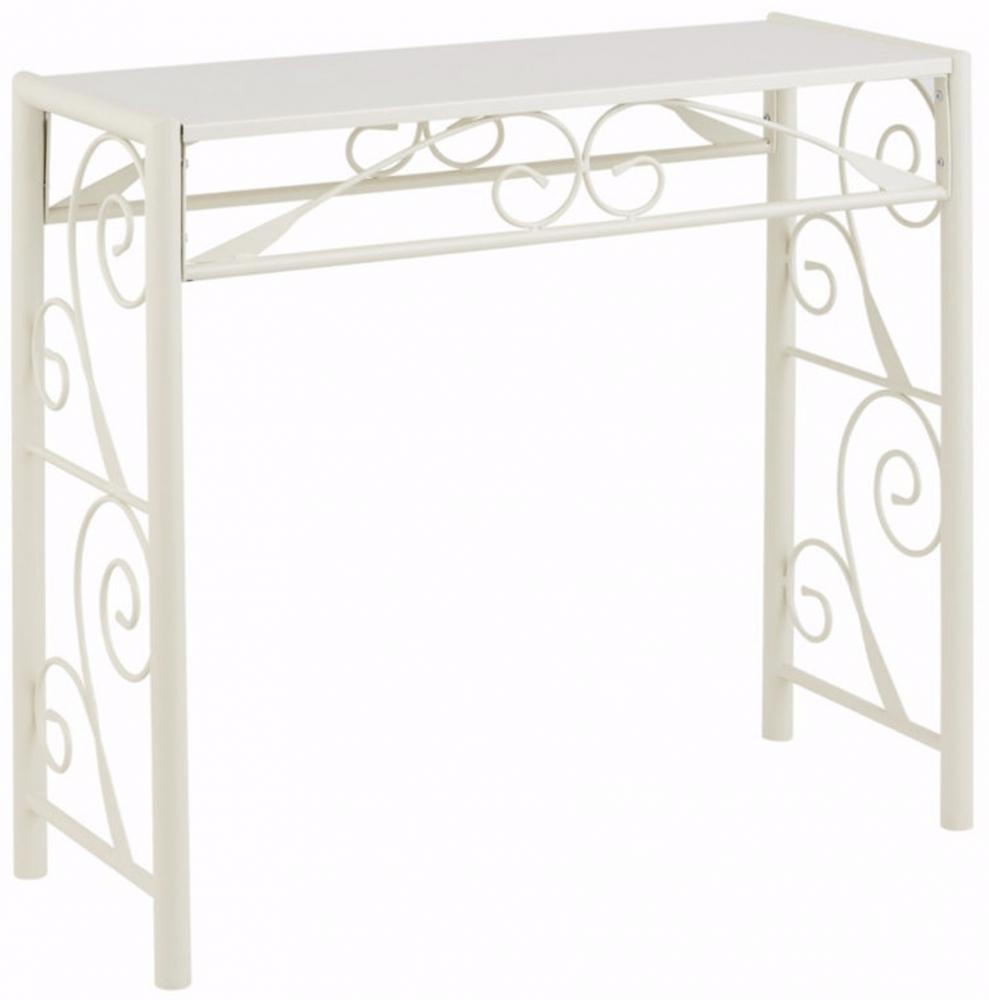 Konzolový stůl Dion, 90 cm, bílá