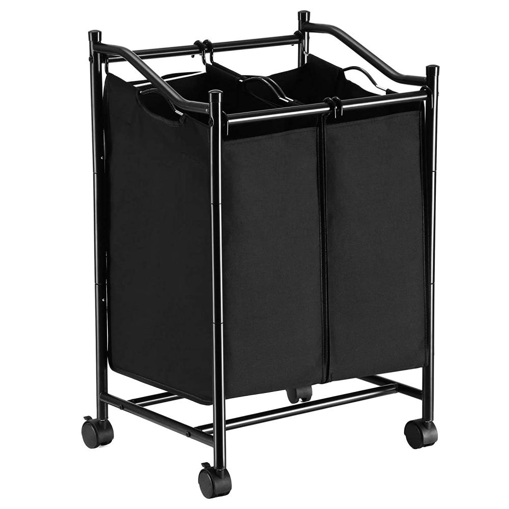 Koš na prádlo Lessy, 80 cm, černá