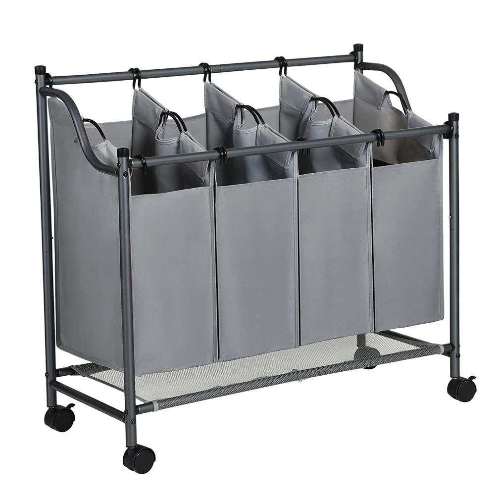 Koš na prádlo Lessy, 88 cm, šedá