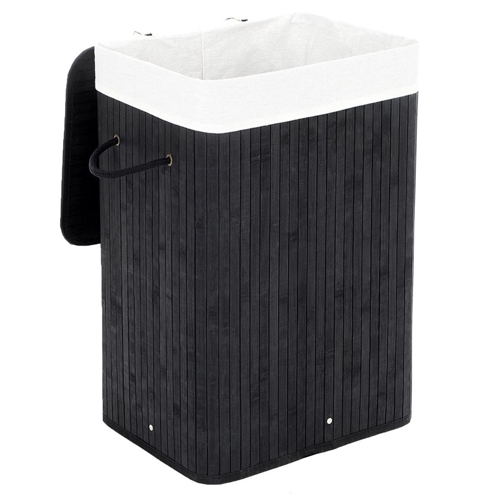 Koš na prádlo Melany, 60 cm, černá