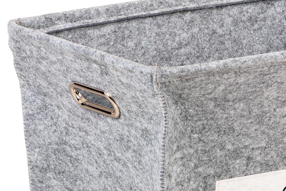 Koš na prádlo Paula, 55 cm, světle šedá