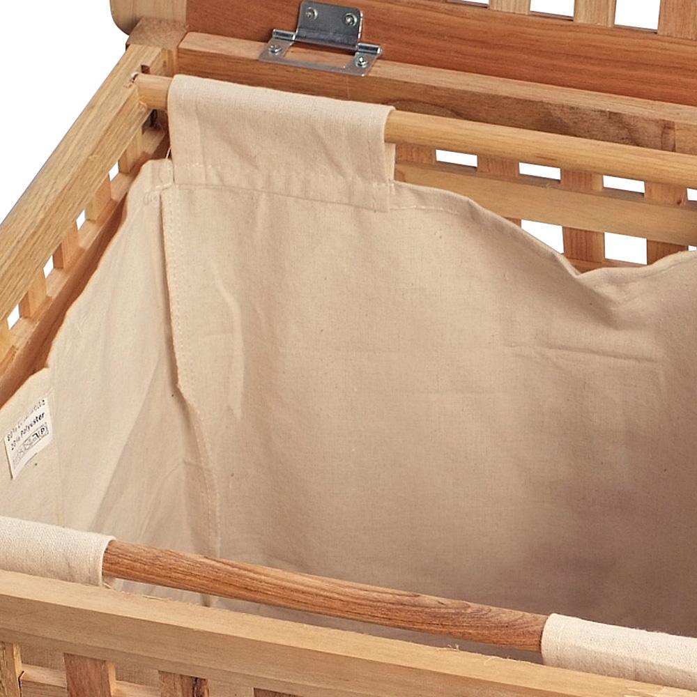 Koš na prádlo Tavia, 67 cm, masiv ořech