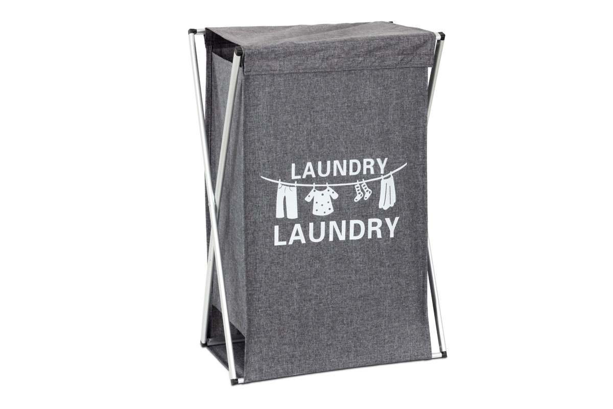 Koš na prádlo Vivien, 55 cm, šedá