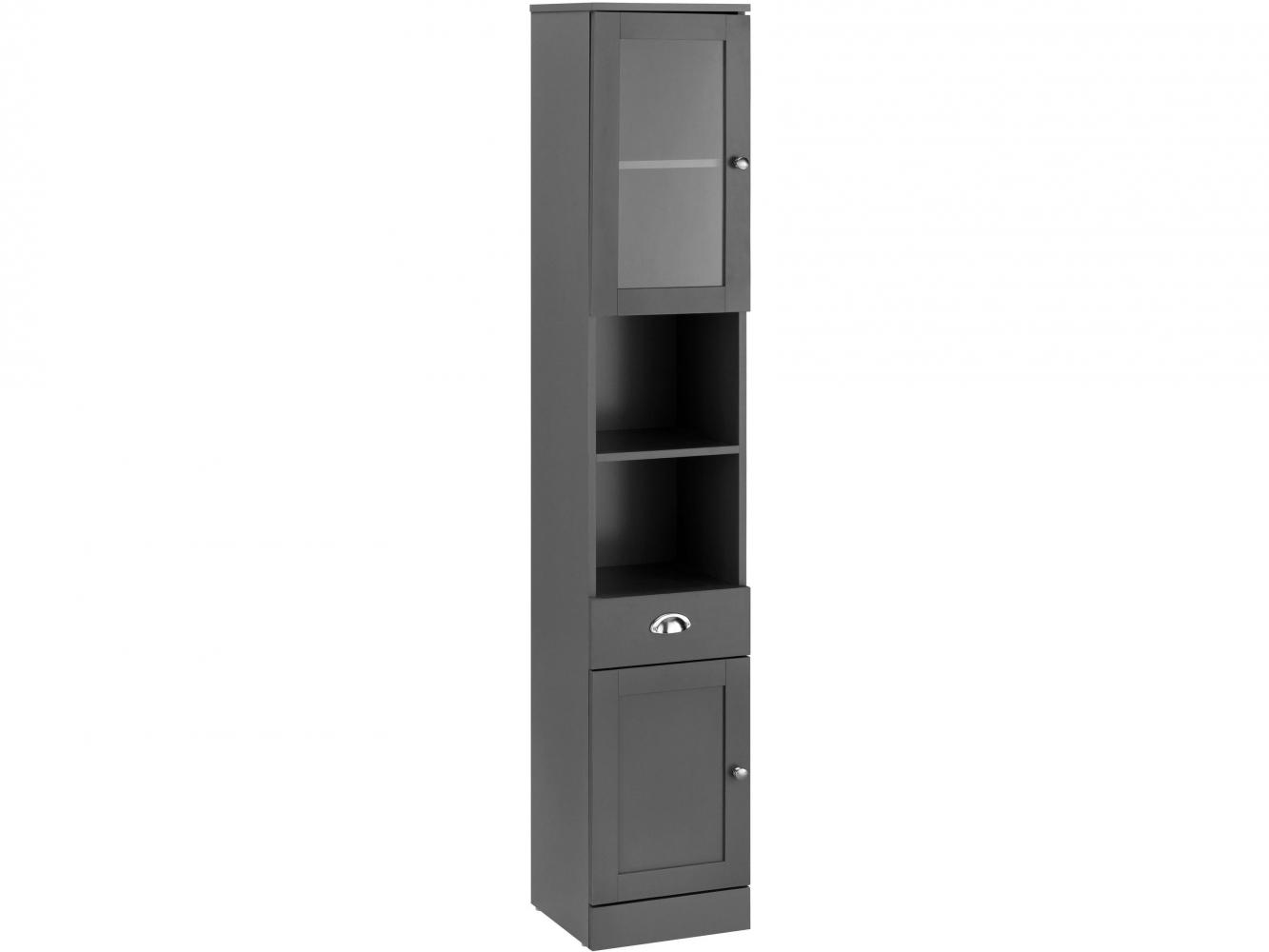 Koupelnová skříňka Kiley I., 180 cm, šedá