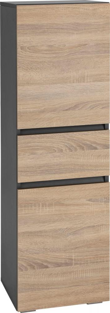 Koupelnová skříňka Luner, 130 cm, antracitová