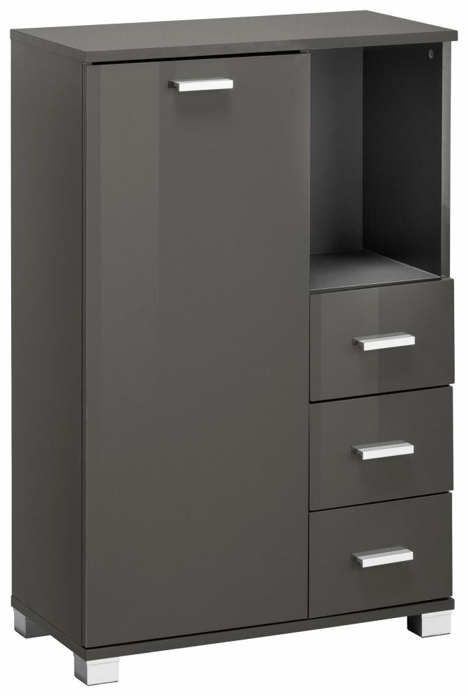 Koupelnová skříňka Ronda I., 90 cm, šedá