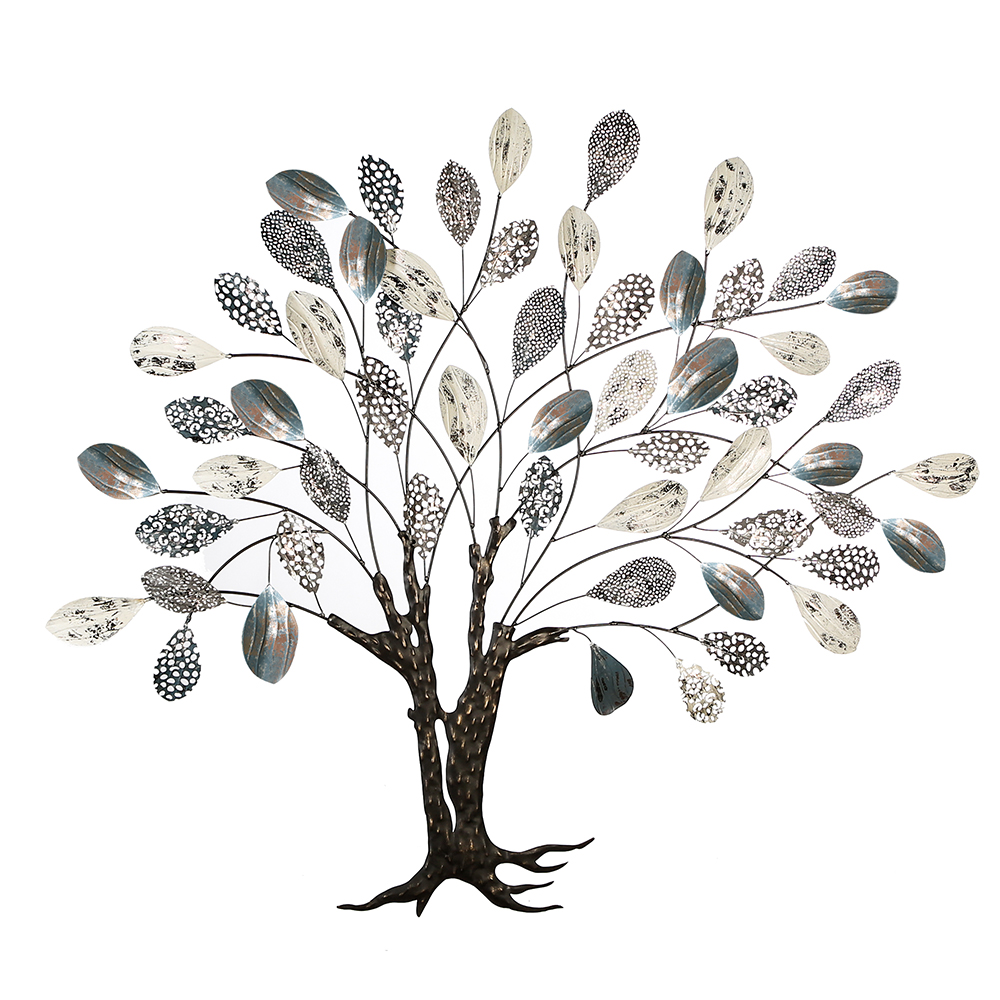 Kovová nástěnná dekorace Strom, 115 cm