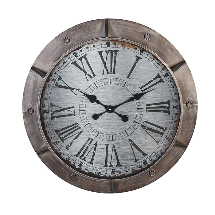 Kovové nástěnné hodiny Harbour, 76 cm