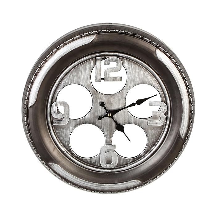 Kovové nástěnné hodiny Wheel, 40 cm