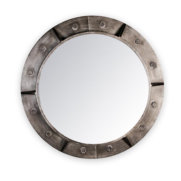 Kovové nástěnné zrcadlo Harbour, 76 cm