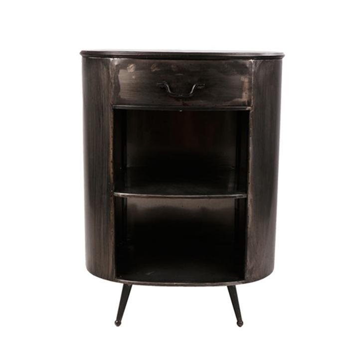 Kovový noční stolek se zásuvkou Empire, 76 cm