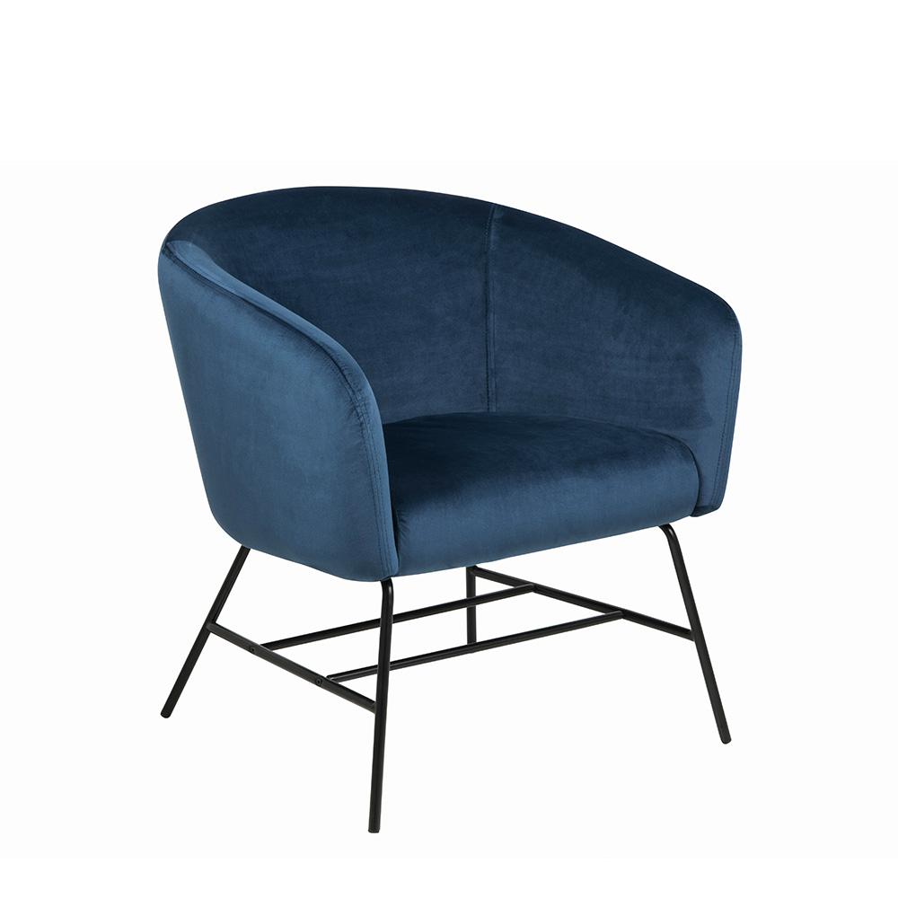 Křeslo s kovovou podnoží Rosina, navy blue