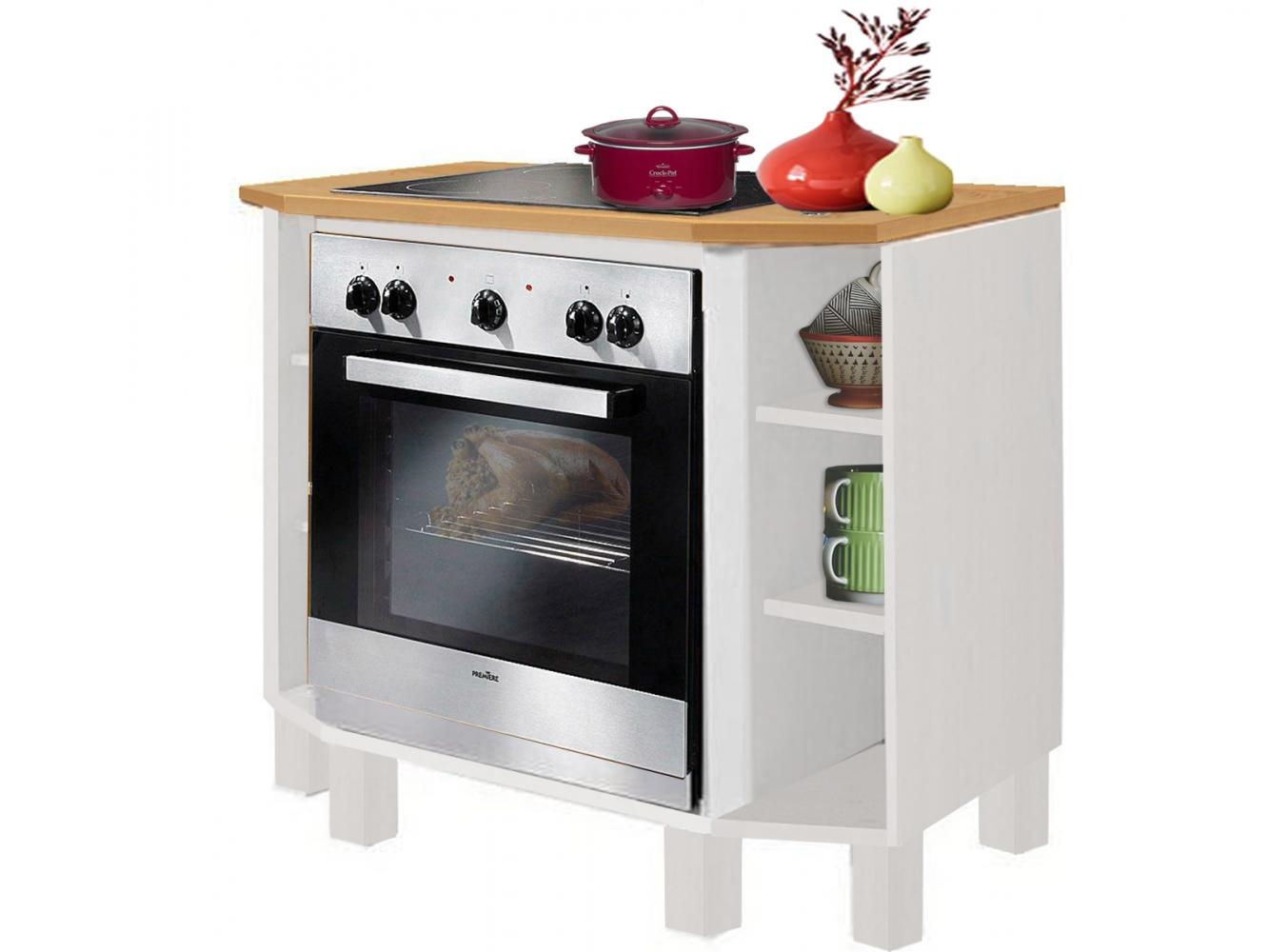Kuchyňská skříň na vestavěnou troubu Tyle I., 100 cm, borovice / bílá