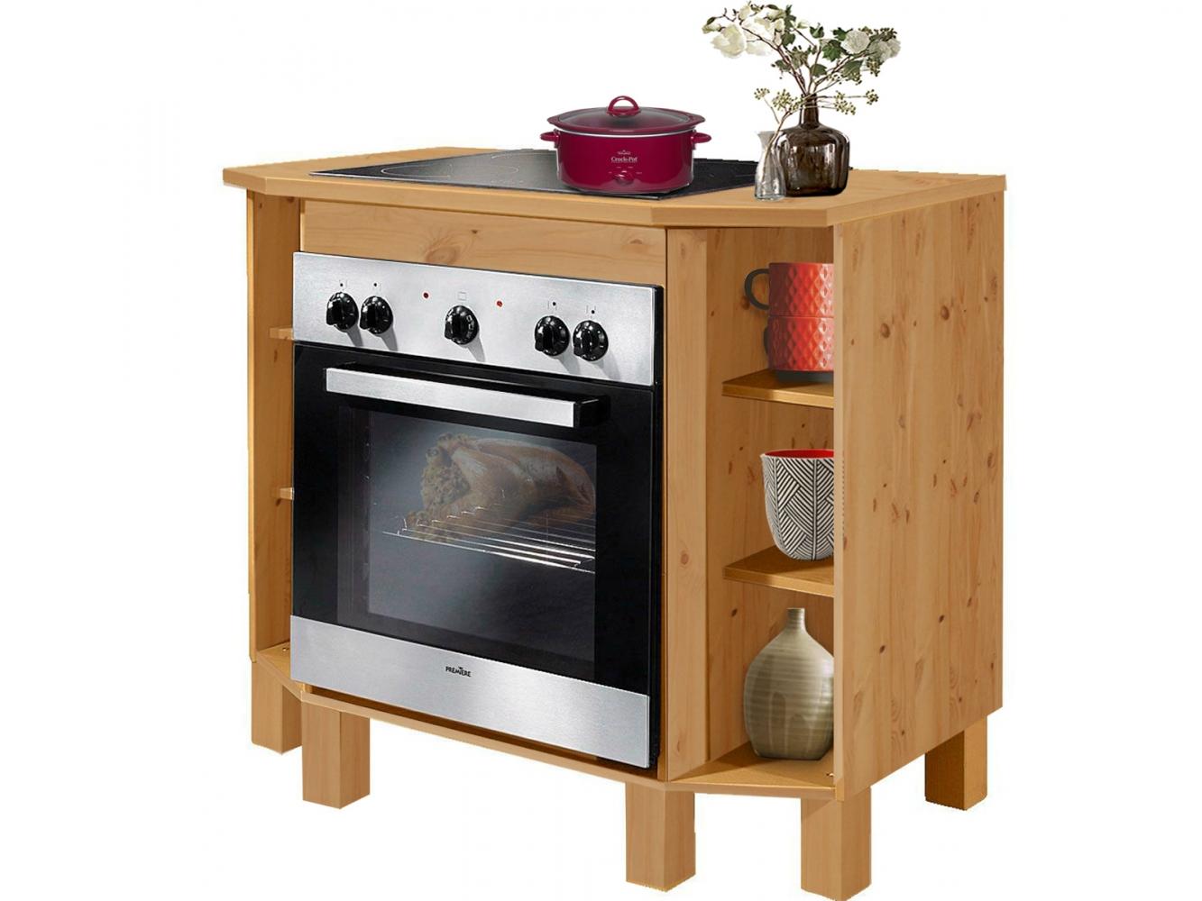 Kuchyňská skříň na vestavěnou troubu Tyle I., 100 cm, borovice