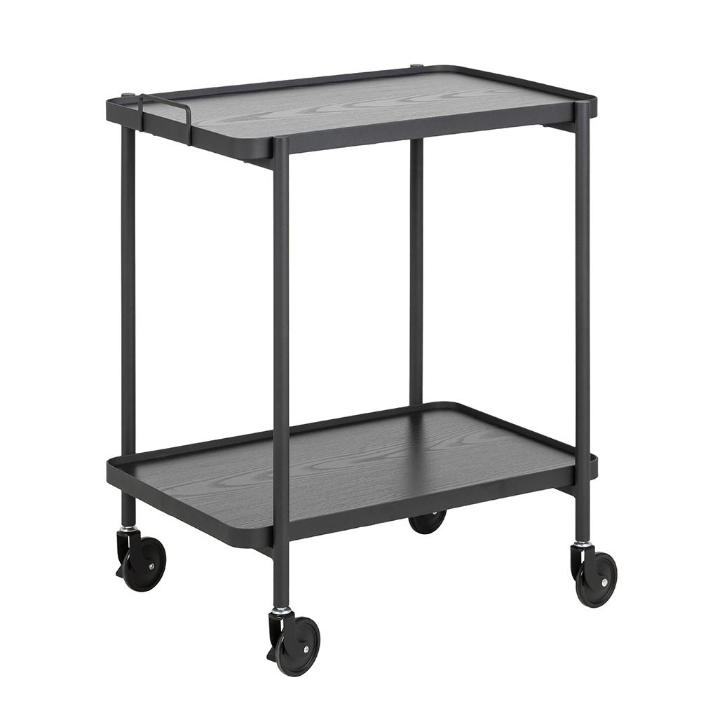Kuchyňský vozík Carmina, 56 cm, černý jasan