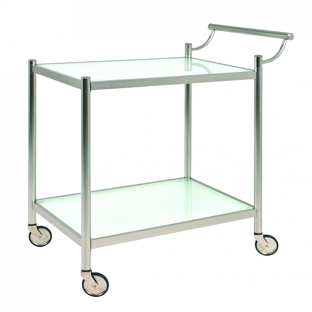 Kuchyňský vozík Kailer, 88 cm, čirá / stříbrná