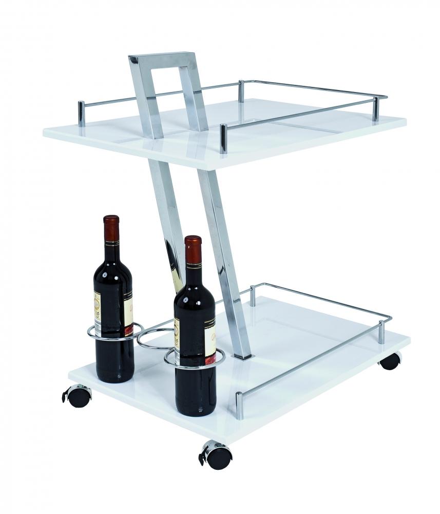Kuchyňský vozík Zork, 72 cm, bílá
