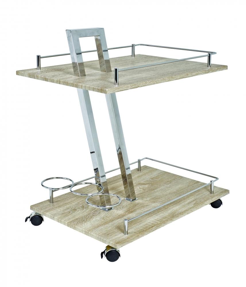 Kuchyňský vozík Zork, 72 cm, dub