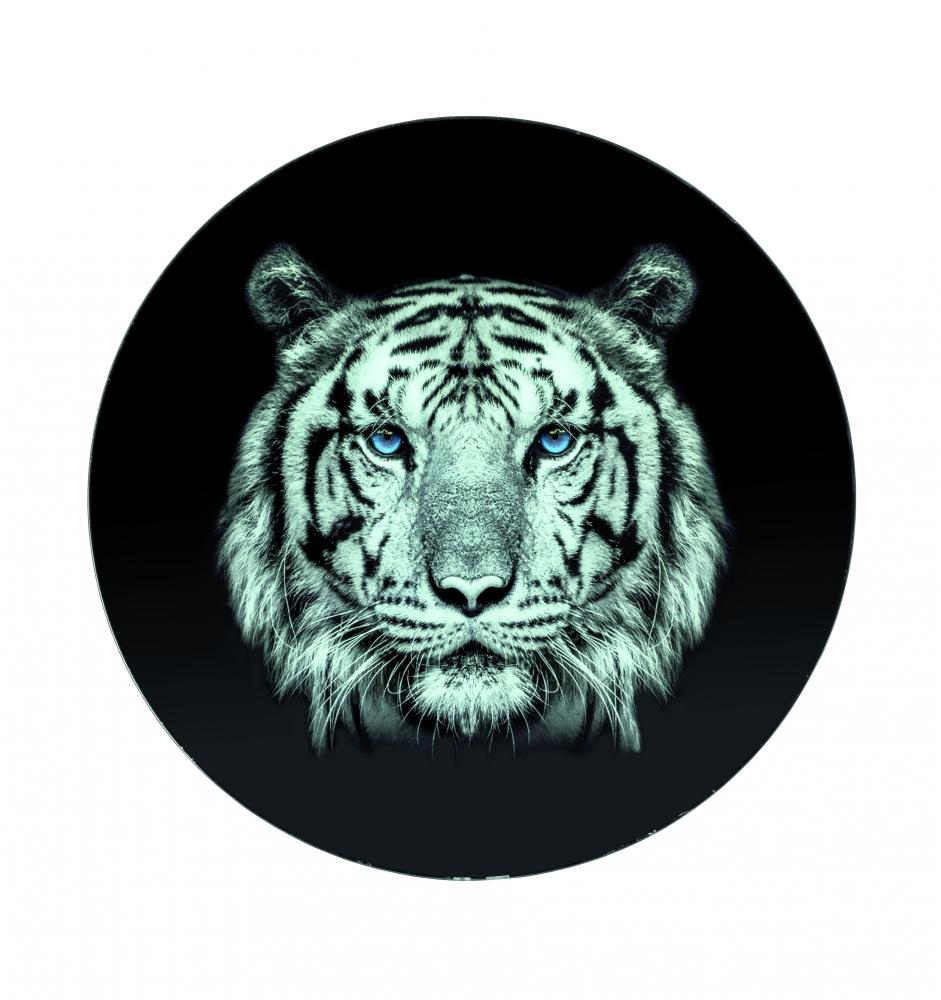 Kulatý stolek Tigera, 41 cm, černá / šedá
