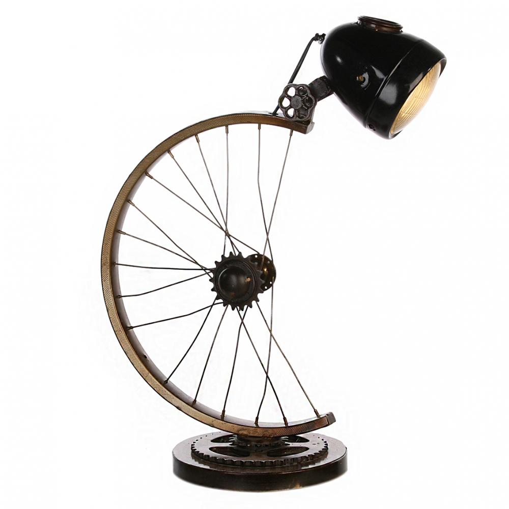 Lampa Cycle, 64 cm, hnědá /zlatá