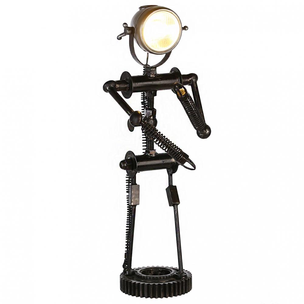 Lampa Robot, 82 cm, černá