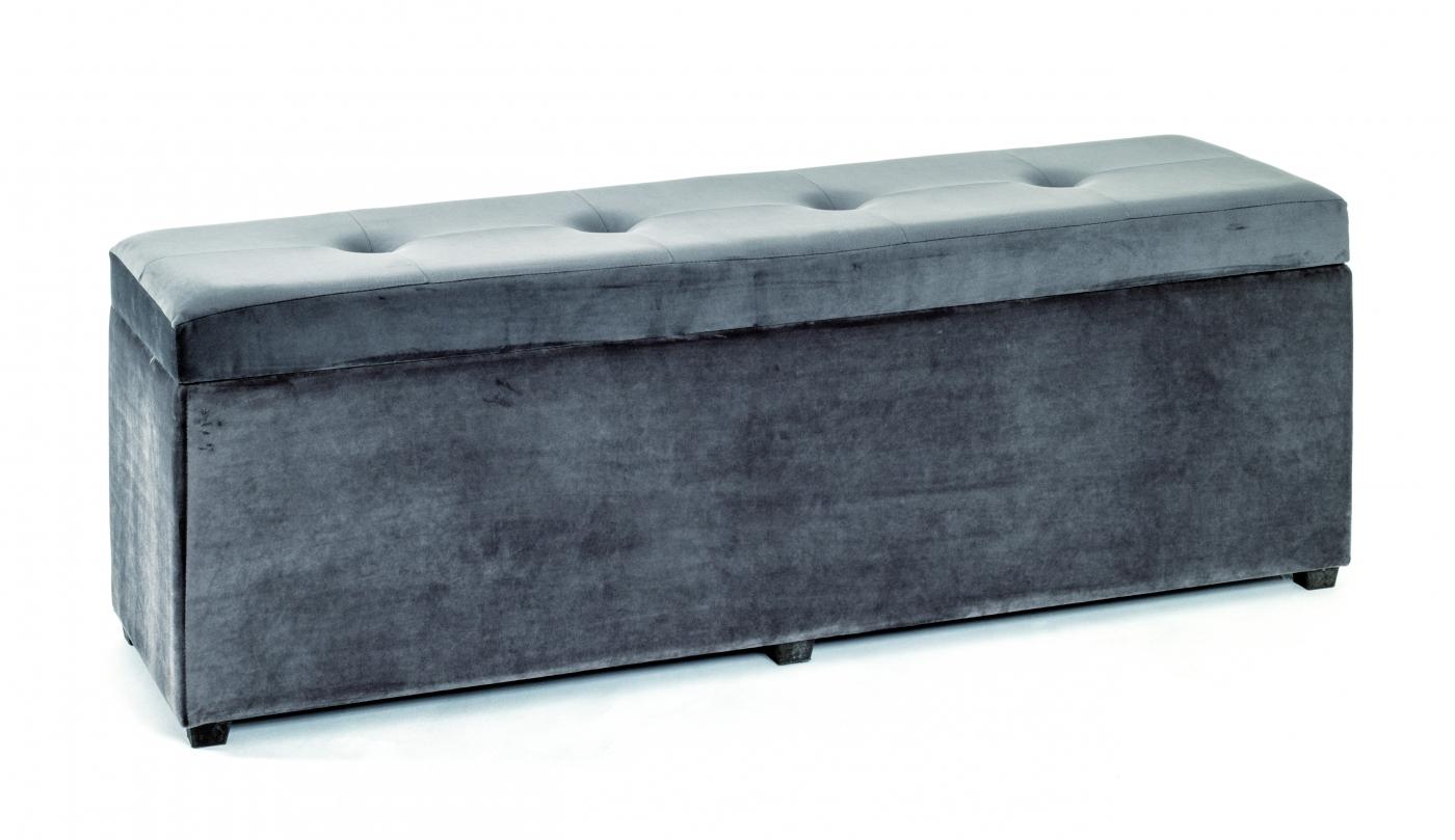 Lavice Cerry s úložným prostorem, 118 cm, šedá
