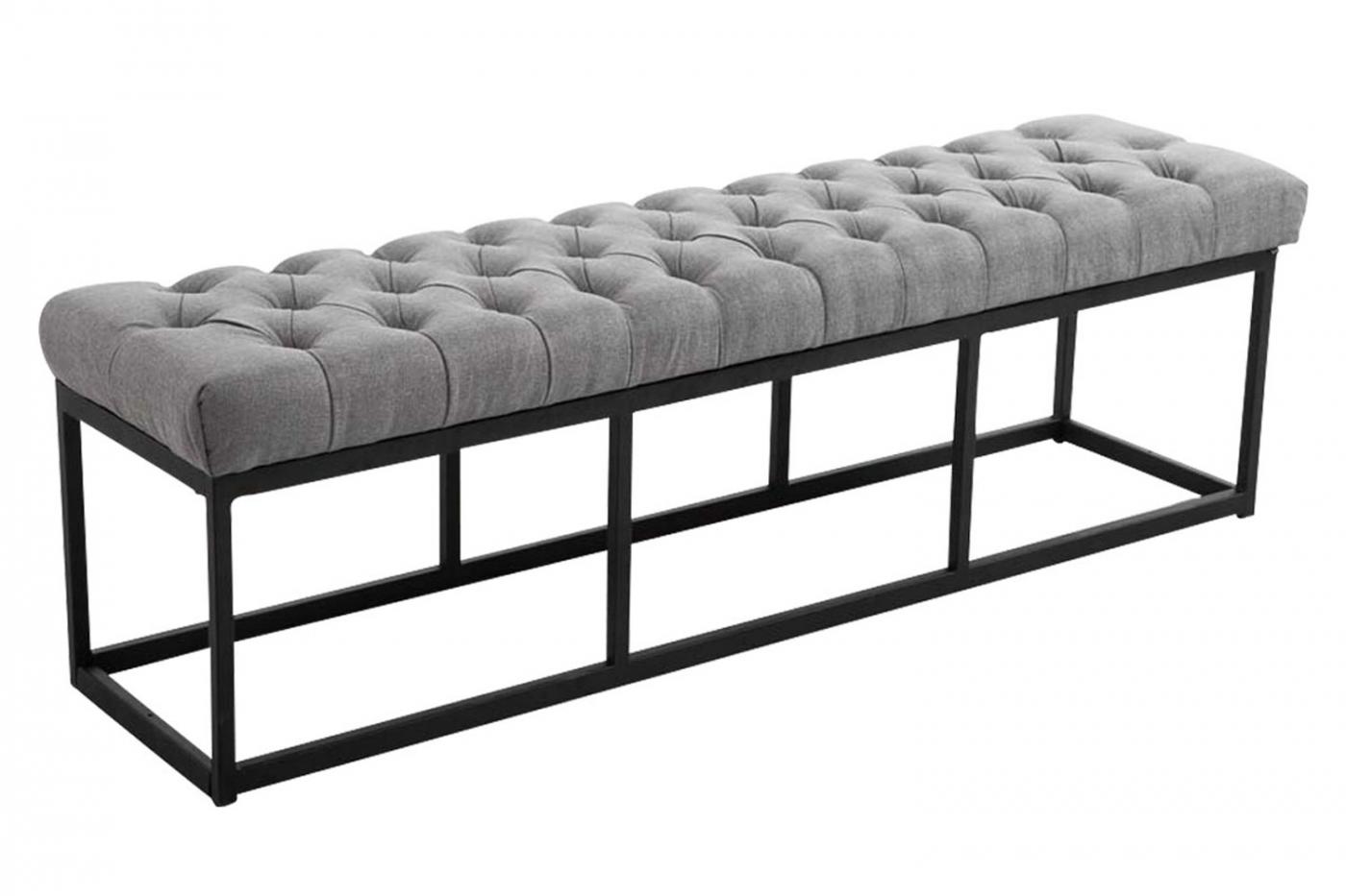 Lavice Emres, 150 cm, šedá / černá