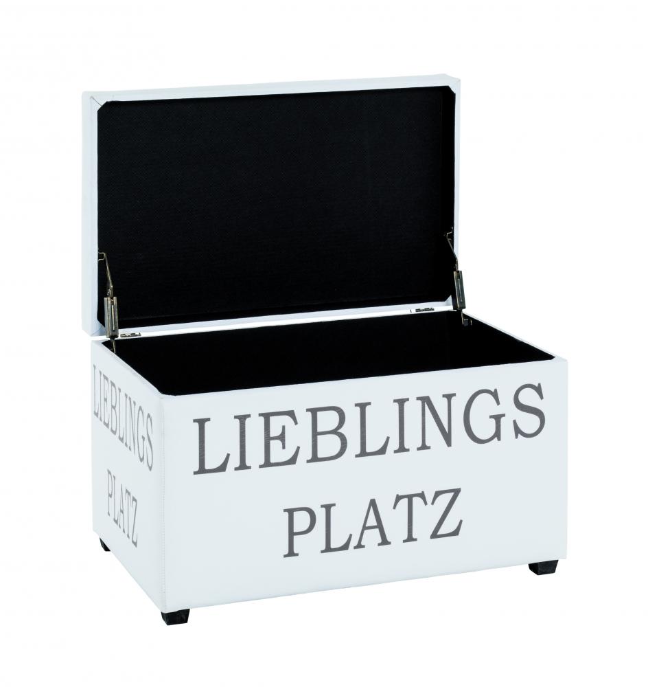 Lavice Liebna, 65 cm, bílá / měděná
