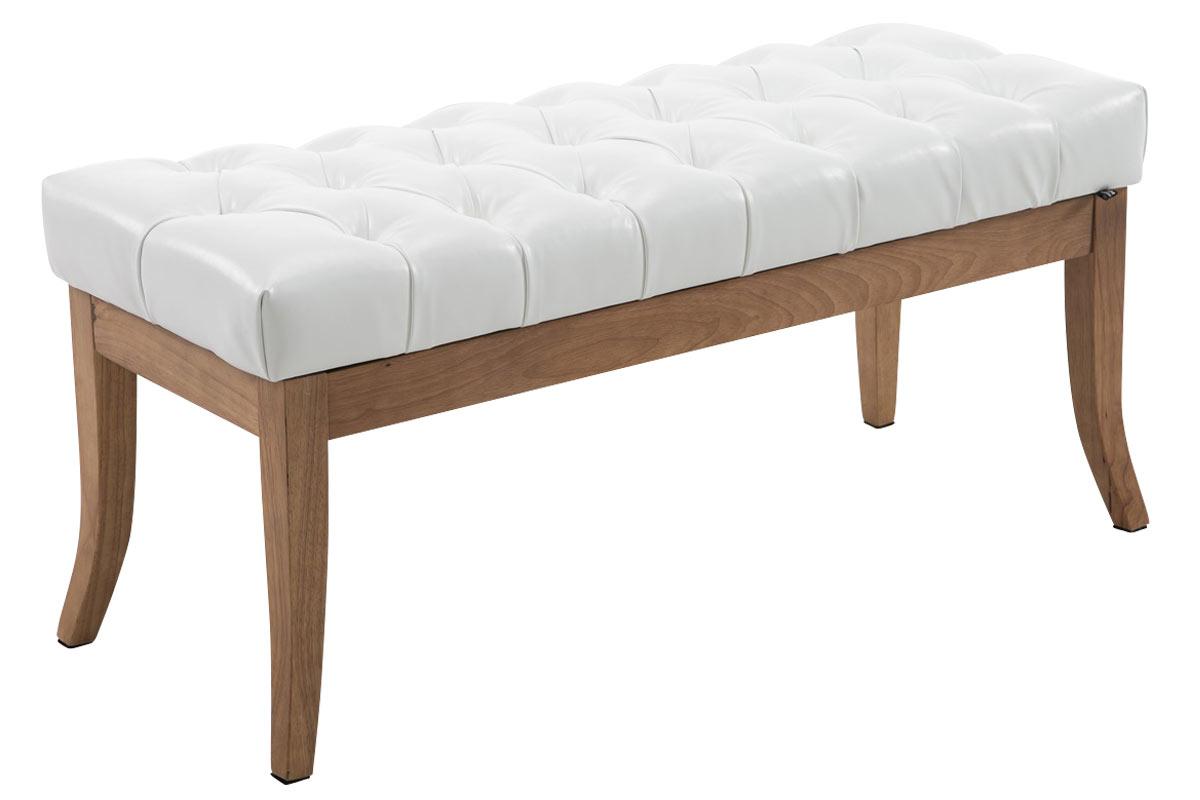Lavice Ramira, 100 cm, bílá / přírodní dřevo