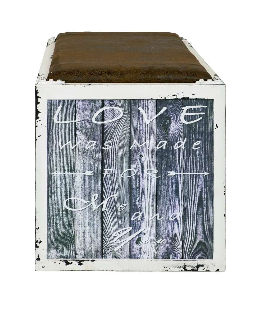 Lavice s botníkem Lovemade, 72 cm