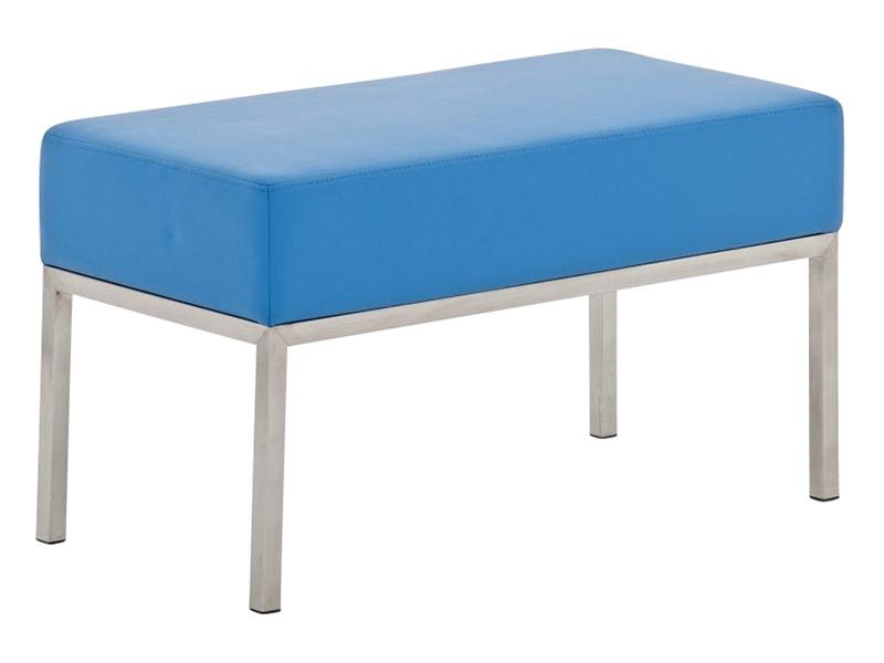 Lavice s nerezovou podnoží Malaga, 80x40 cm modrá