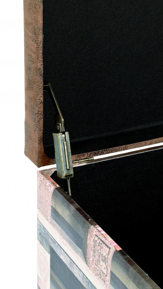 Lavice s úložným prostorem Blaire, 42 cm, hnědá