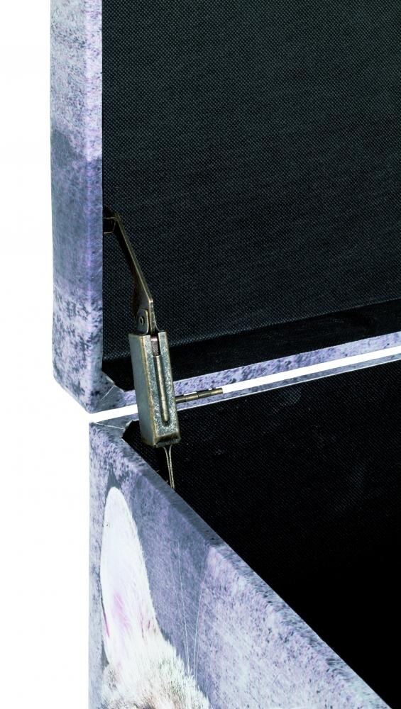 Lavice s úložným prostorem Catty, 42 cm, šedá