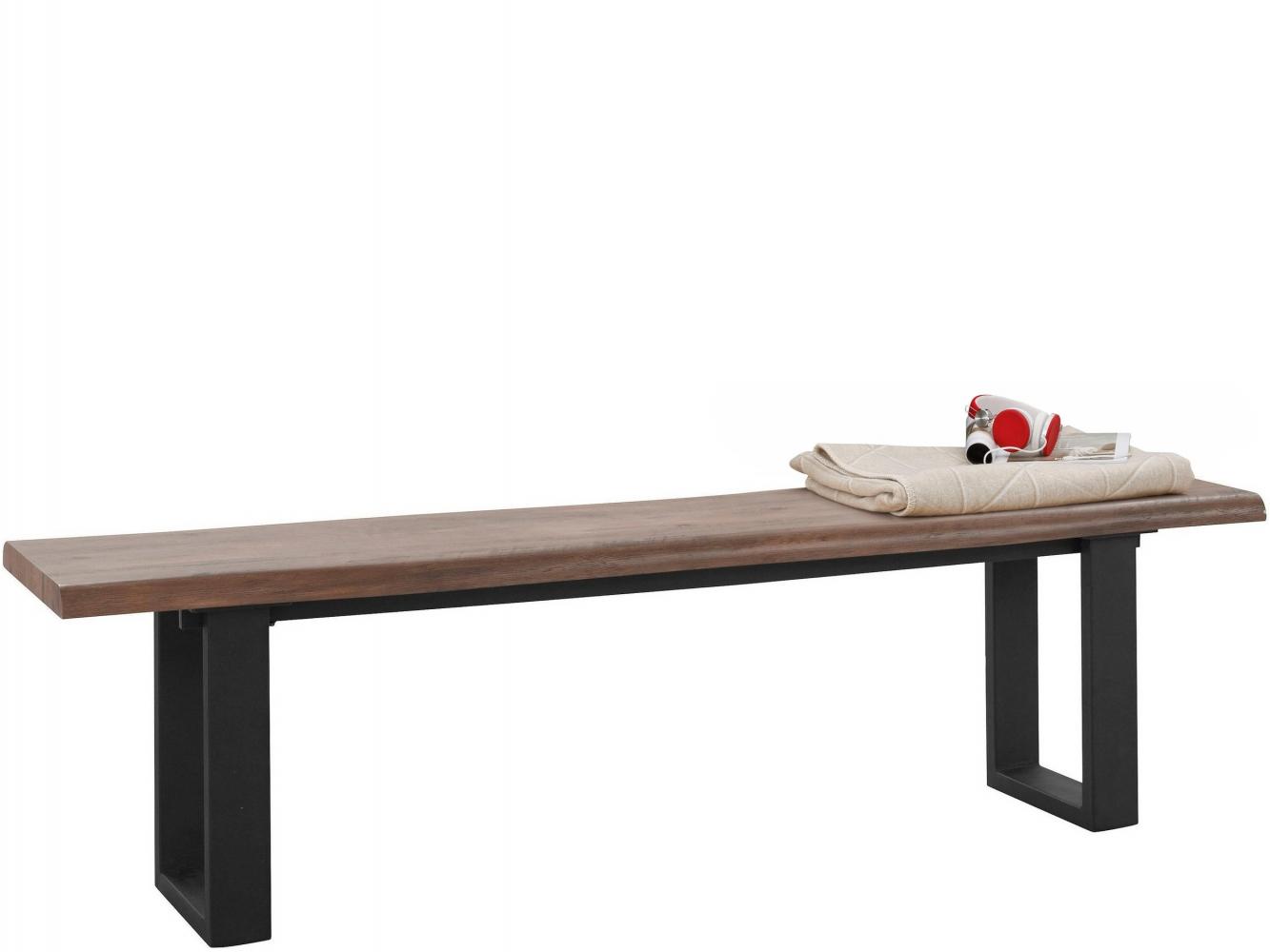 Lavice Sinc, 180 cm, hnědá / černá