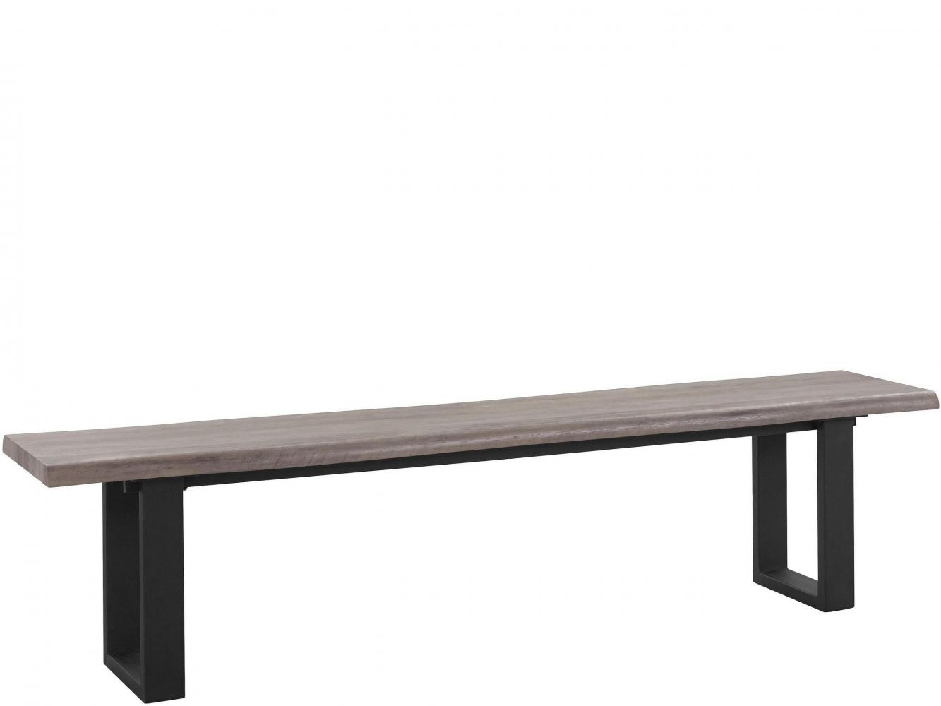 Lavice Sinc, 200 cm, šedá / černá