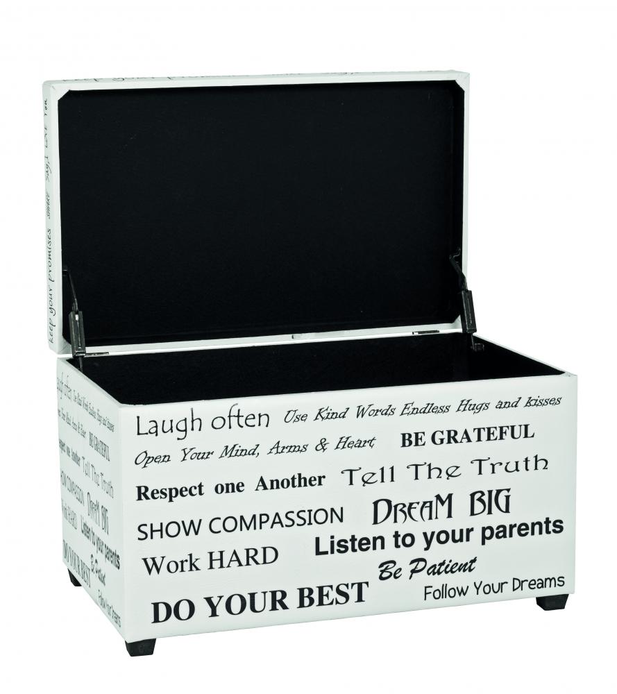 Lavice Slogana, 65 cm, bílá / černá