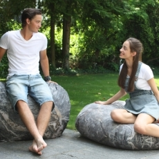 Lavice / sofa Stone outdoor, 120 cm - 3