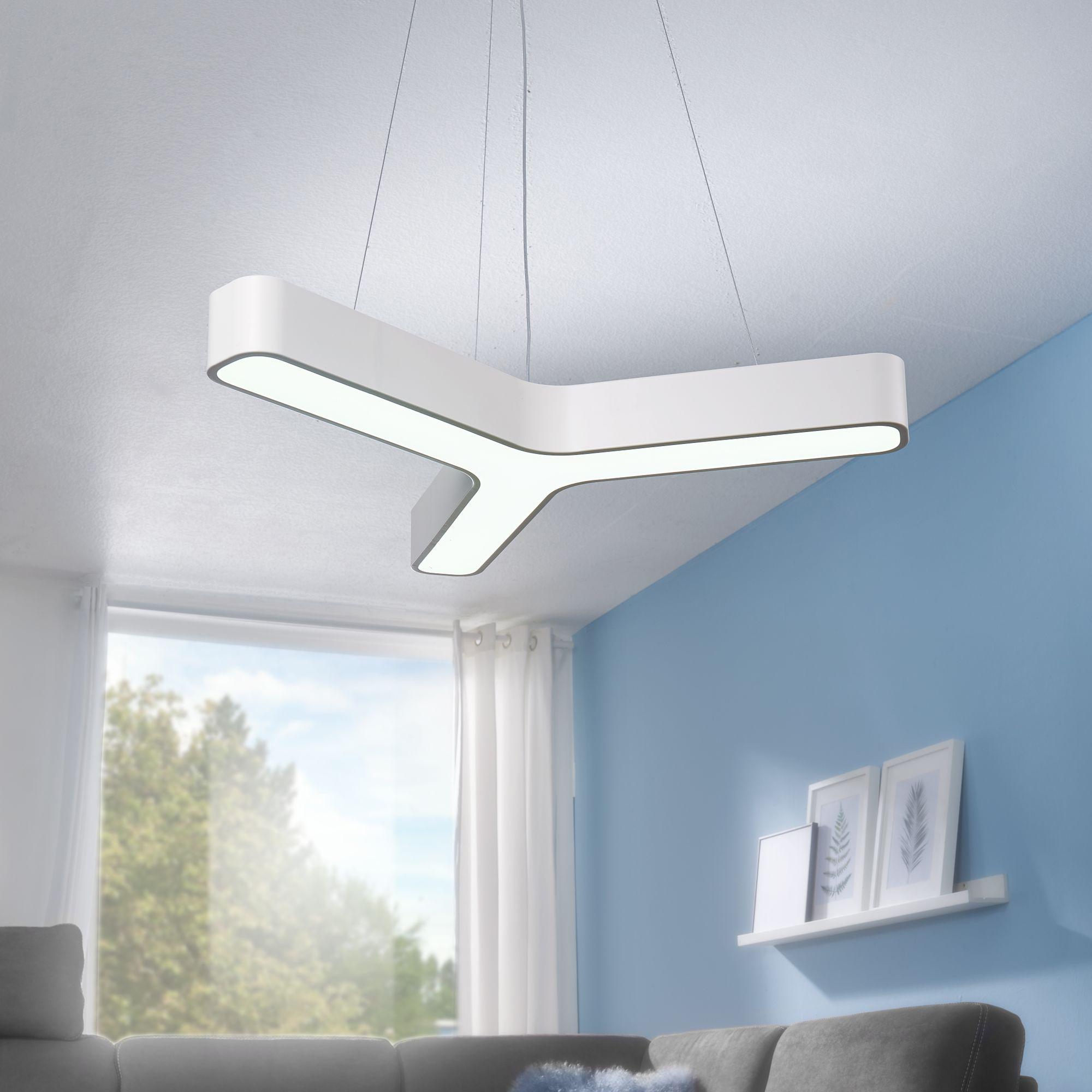 LED závěsné svítidlo Y-form, 107 cm, bílá